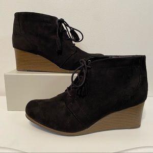 Dr. Scholls Black Kennedy Wedge Heel Ankle Boots